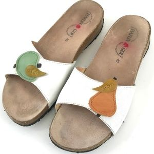 Cute PEAR of HAFLINGER Sandals Slides EU 40